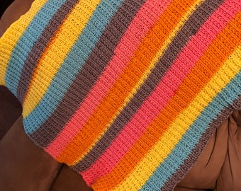 Ribbed Pop Art Blanket