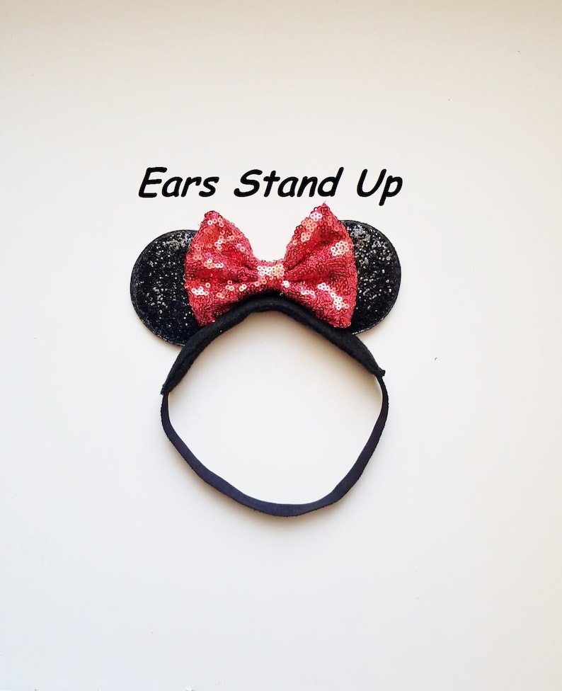 Baby Toddler Kid Child Infant Minnie Mouse Ears with Rust Red  49a9714b2ba