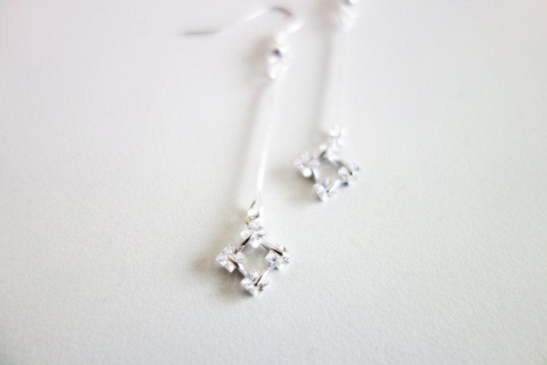 Gift for Her Minimalist Silver Jewelry Silver Minimalist Wedding Earrings Original Jewelry Women Jewelry