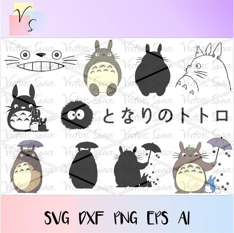 Download Instant Download Studio Ghibli Cricut Print Vector Totoro ...
