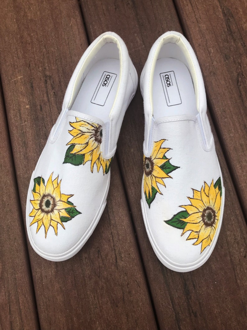 397b61cce50 Hand painted sunflower shoes