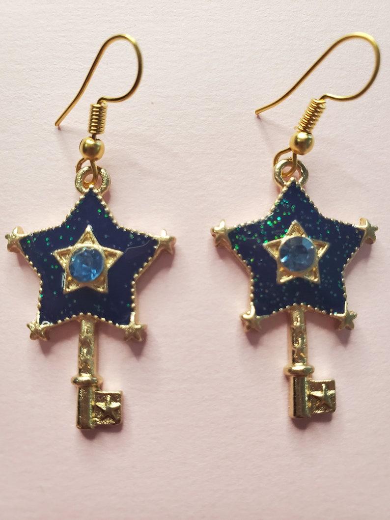 Blue Star Wand Earrings!