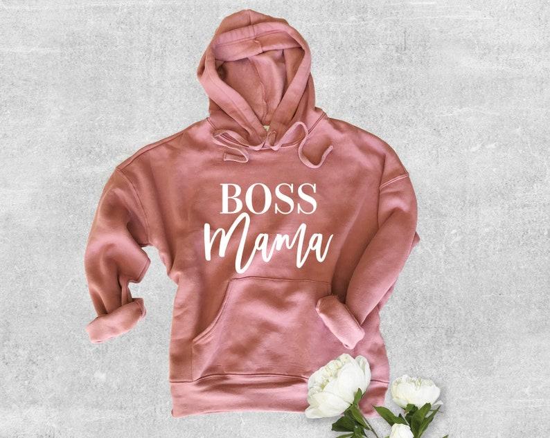 Boss Mama Sweatshirt Boss Mama Boss Mom Mom Apparel Mom image 1