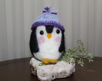 Needle Felted Baby Penguin
