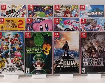 4-Pack of Modern Media Stands (Display 12 Games!)