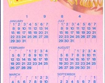 1984 Calendar Etsy
