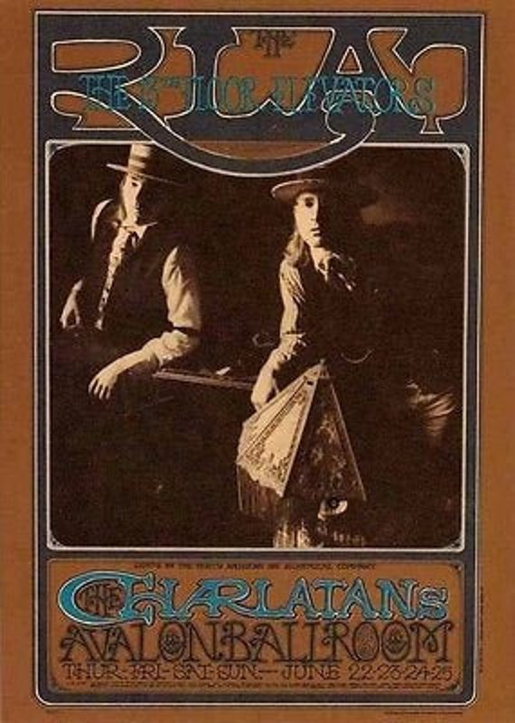 FD 63 Original Avalon Ballroom Postcard CHA Charlatans Blue Cheer 1967 MINT