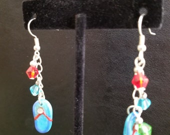 Flip flop dangling earrings