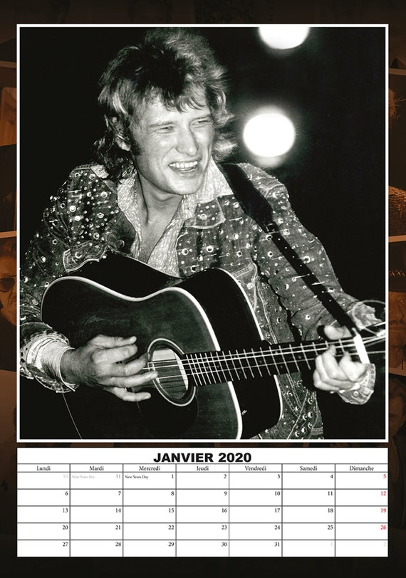 Calendrier 2020 Johnny Hallyday Officiel.Johnny Hallyday Calendrier 2020 Johnny Hallyday Aimant De Refrigerateur