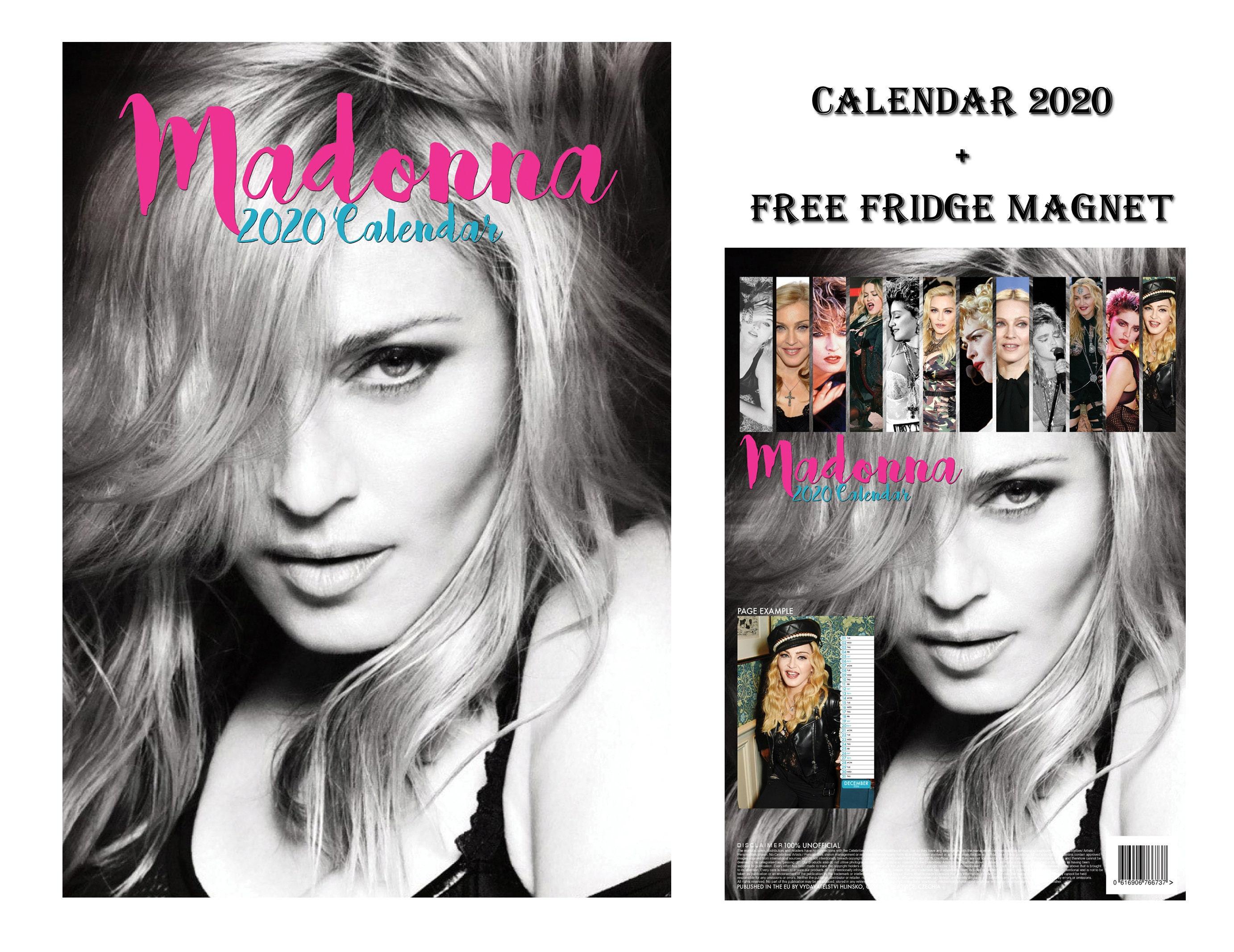 Calendario Madonna 2020.Madonna Calendar 2020 Madonna Fridge Magnet