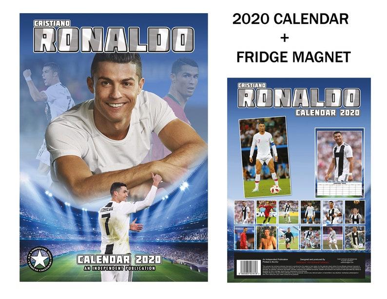 Cristiano Ronaldo Calendar 2020 Cristiano Ronaldo Calendar 2020 Cristiano Ronaldo Fridge   Etsy