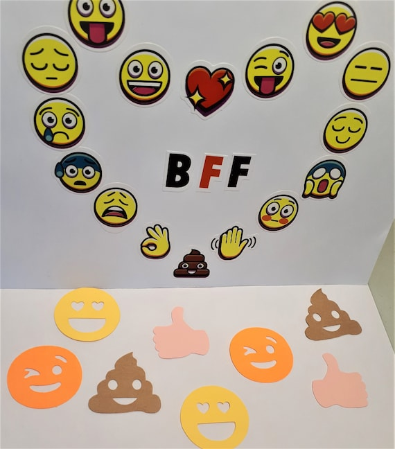 Emoji Table Confetti Birthday Party Anniversary