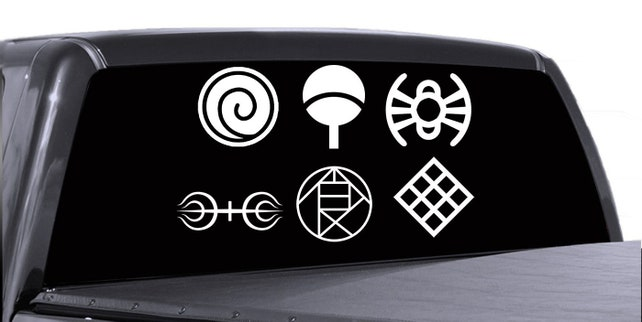 Naruto Family Clan Village Crest Vinyl Decals Uzumaki Etsy
