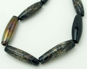 Blown Glass Olive Beads