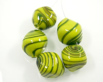 Blown Glass Rhomb Beads