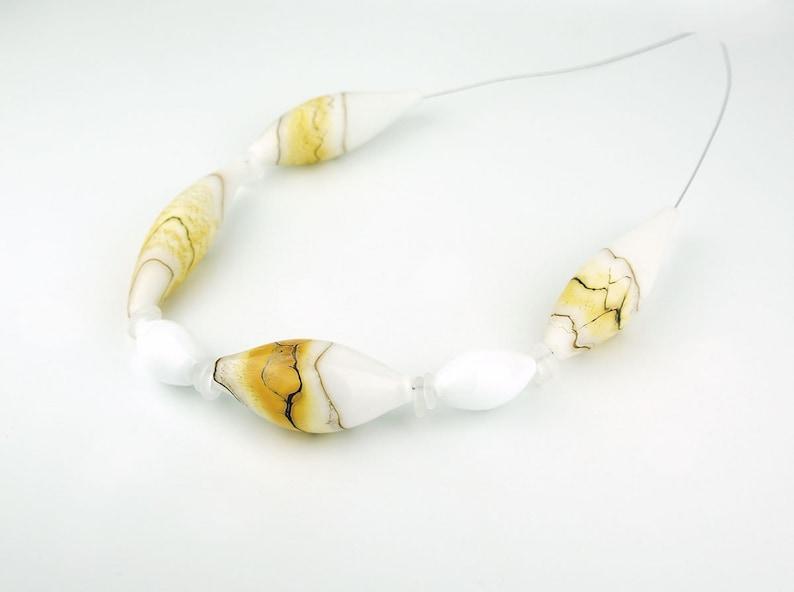 Modern Handmade Glass Hollow Beads For Necklace Glass Beads Handmade Craft. Lampwork beads Art