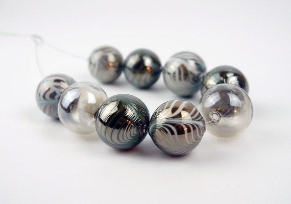 Handmade Blown beads MTO Handmade Glass Hollow Beads For Necklace Lampwork beads Craft. Glass Beads
