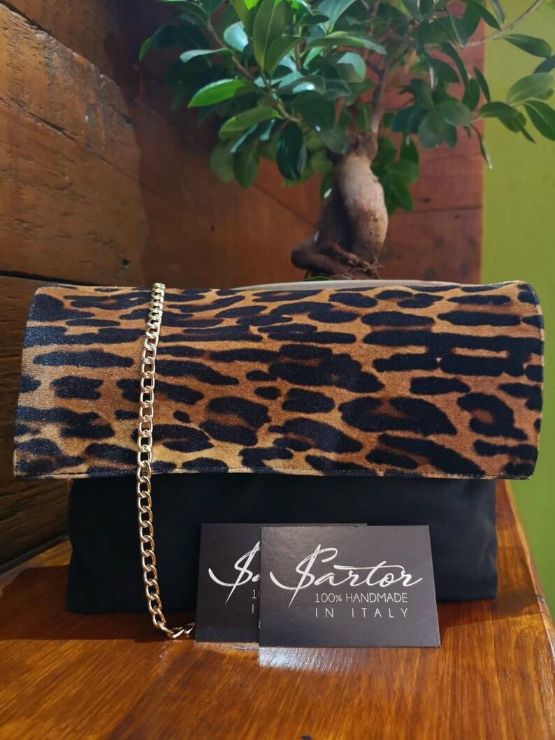 a8cb2dbb2e50 Leopard crossbody Velvet leopard leopard fold over clutch | Etsy