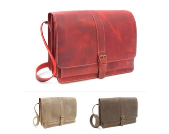 """Shoulder bag """"New York"""" made of leather incl. leather care Thielemann Made in Germany"""