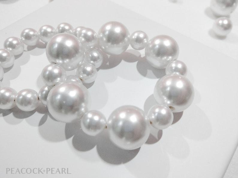 Wedding Hair Bobble Pearl Bridal Scrunchie Oversize Pearl Hair Bobble Pearl Hair Accessory