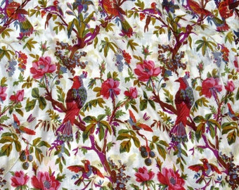 New indian printed bird pattern pure cotton fabric 100%cotton fabric