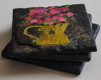 Set of 3 Artistic Stone  Drink Coasters