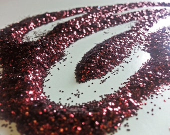 glitter - burgundy fine polyester