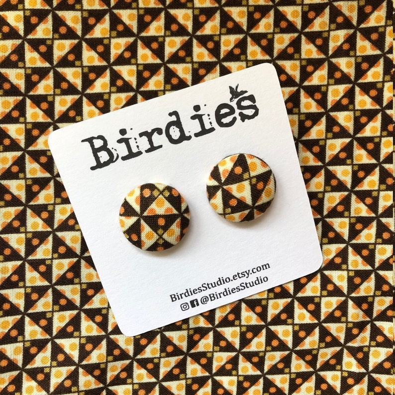 Liberty Fabric Handmade Earrings