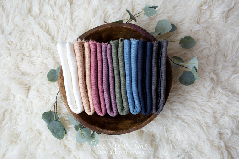 Newborn Textured Knit Wrap Neutral Tone Wraps Baby Wrap Baby Stretchy Wraps Soft /& Stretchy Photography Prop RTS Wren Collection