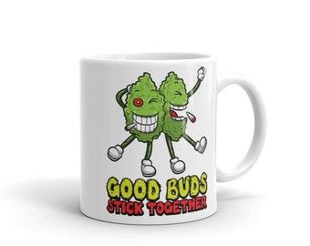 979e251b4c3 Stoner Buds Smoke Hemp Get High Funny 420 Coffee Mug