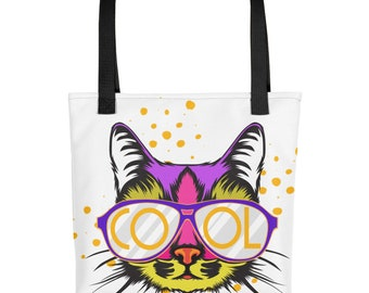Hip Rad Coolest Cat Around Sunglasses Wearing Meowster Tote bag