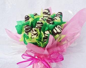 Handmade fudge bouquet - Bunch of 6 or 12 flowers