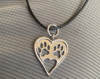 Heart necklace, dog mom, cats, animals, animal jewelry, under 20 gift, rescue mom, pets, cat jewelry, free shipping, cat mom