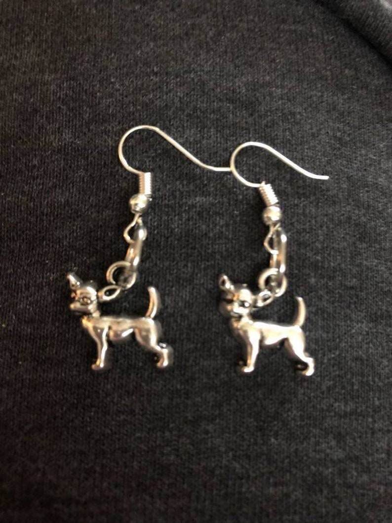 Chihuahua earrings dog mom rescue mom gift rescue dog chi image 0