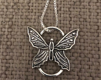 Butterfly necklace, necklace, pendant, butterfly, gifts for her, gift ideas