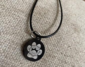 Paw necklace, dog, cat, paw print, sparkly jewelry, rescue mom gift, dog mom, rescue mom, cat mom, dog mom, kitty, under 20