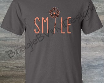 "Custom ""Smile"" Dandelion Shirt"