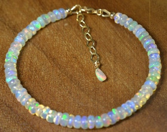Christmas Gifts Natural Ethiopian Pink Opal /& White Opal Bracelet 925 Silver Bracelet Gemstone Cobra Bracelet Tennis Snake Bracelet