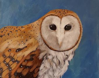 Barn Owl - Original Acrylic