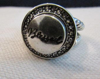 "Snap Ring ""Blessed"""