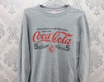 9e153e78c2 Vintage Coca Cola Sweatshirt Big Logo Streetwear Soft Drink Coca Cola Trade  Mark Coca Cola Sweater Size S