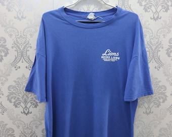 b145564da19b5 Vintage Seibu Lion Japan Professional Baseball Team Shirt Big Spell Out  Logo Streetwear Sportswear Matsuzaka Baseball Player T-Shirt Size M