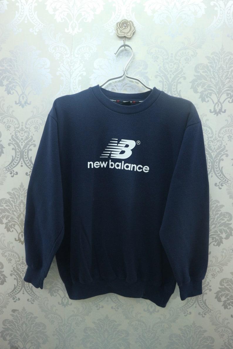 a161811253b17 Vintage New Balance Sweatshirt Big Spell Out Streetwear Sportswear Pullover  New Balance Sweater Size 160