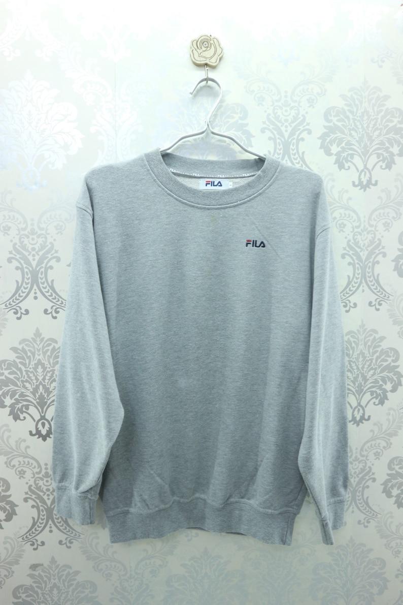 cccaf9e19ee54 Vintage Fila Sweatshirt Embroidery Logo Streetwear Sportswear | Etsy
