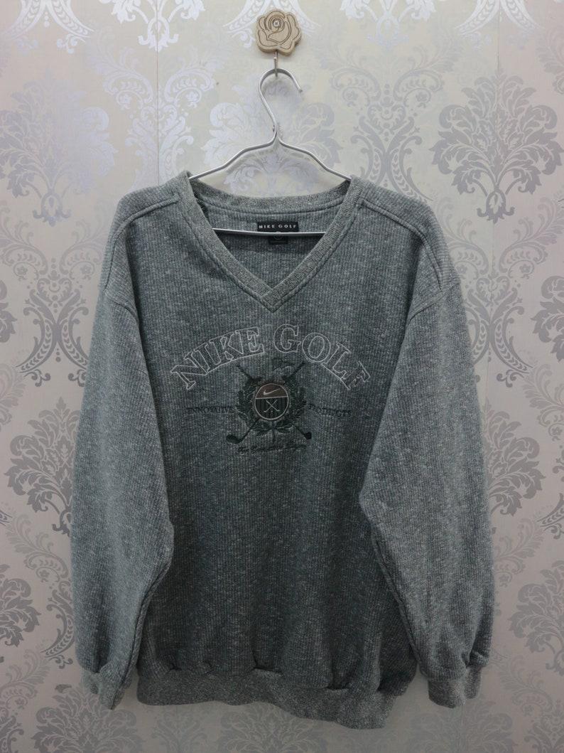 a7d99197b3c29 Vintage Nike Golf Sweatshirt Embroidery Spell Out Streetwear Sportswear  Pullover Nike Sweater Size L