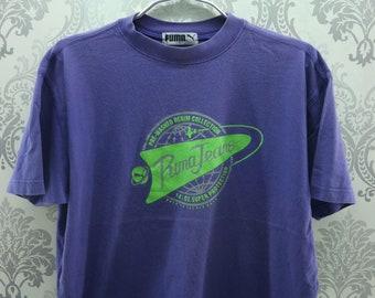Vintage Puma Shirt Big Spell Out Streetwear Sportswear Top Tees Puma T Shirt Size M