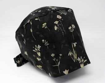 Scrub cap/ Surgical cap - ELEANOR - Floral Pixie for Women - Preshrunk Cotton - Mimi Scrub Hats