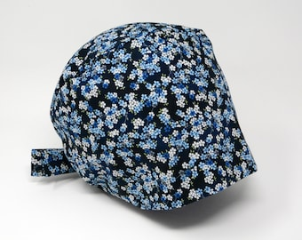 Scrub cap/ Surgical cap - ARYA - Floral Pixie for Women - Preshrunk Cotton - Mimi Scrub Hats