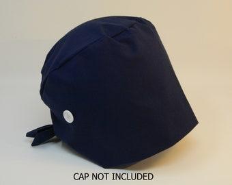 White Button Add-on for Scrub Cap - Ear Savers - Mimi Scrub Hats