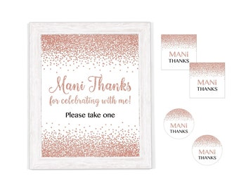 picture relating to Mani Thanks Free Printable known as Mani owing Etsy